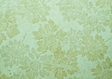 Old floral wallpaper Stock Photos