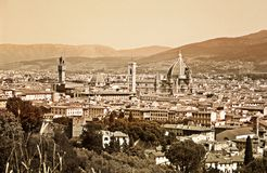 Old Florence. Impression of the city of Florence, done in aged effect Stock Image