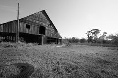 Old Florida Farm. Old, abandoned farm in Florida countryside royalty free stock image