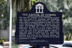 Old Florida State Capitol Historical Sign in Tallahassee Royalty Free Stock Photo