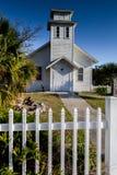 Old Florida style vintage white wooden church Royalty Free Stock Photo
