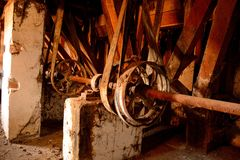 The old flour mill royalty free stock image