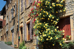 An old flowered street Royalty Free Stock Photography