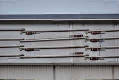Old Fluorescent Tubes Royalty Free Stock Photos