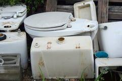 Old flush toilet Stock Image
