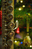 Old flute near a New Year tree Stock Images