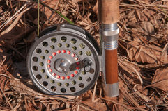 Old fly reel Stock Photo