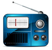 Old FM radio icon. This  illustration may be useful  as designer work Royalty Free Stock Photos