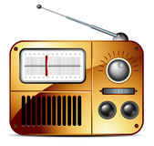 Old FM radio icon. This illustration may be useful as designer work Royalty Free Stock Images