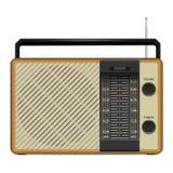 Old fm radio icon, realistic style stock illustration