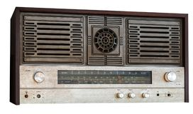 Old fm tuner radio isolated on white Royalty Free Stock Photo