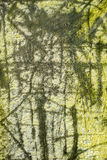 Old foil with modern painting Royalty Free Stock Images