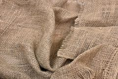 Old Folded Burlap Fabric Royalty Free Stock Photography