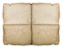 Old folded vintage paper sheet. Isolated on white Stock Image