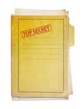 Old folder with top secret stamp. Old folder with top secret stamp, clipping path Royalty Free Stock Photo