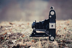 Old Folding Camera Stock Photography