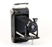 Old folding camera with bellows Royalty Free Stock Photography