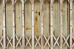 Old folding metal(Steel Rolling Shutter) door gate - Vintage sty Royalty Free Stock Photos