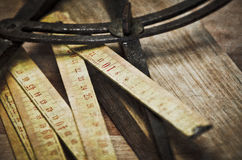 Old folding ruler Royalty Free Stock Photography