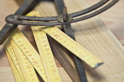 Old folding ruler Stock Image