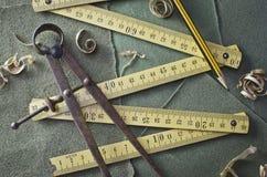 Old folding ruler Royalty Free Stock Image