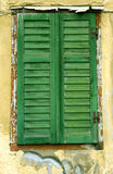 Old folding shutters Stock Images