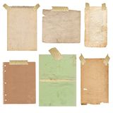 Old folias of paper Stock Photo