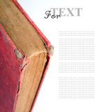 Old Folio. In dark red cover on white background. Book with ancient knowledge Royalty Free Stock Photos