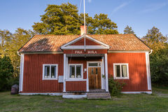 Old Folk school Harstena in Sweden Royalty Free Stock Images