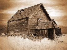 Old Food Storage Building ( sepia ) Royalty Free Stock Image