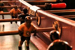 Old foosball table stock photography