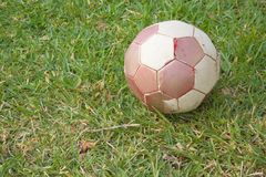 Old football ball Stock Images