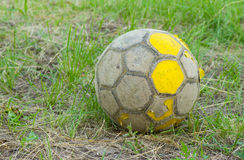 Old football (soccer ball) Royalty Free Stock Images