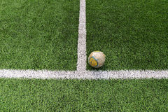 Old Football/soccer on field Royalty Free Stock Photos