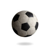 Old football the sporting goods. On white background Royalty Free Stock Image