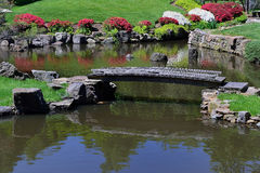 Free Old Footbridge Across A Pond Royalty Free Stock Photos - 31397438