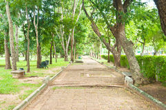 Old footpath thai culture Stock Images