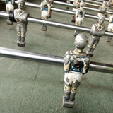 Old foozball Stock Photography