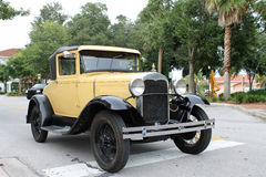 The old Ford car. At the show Royalty Free Stock Photography
