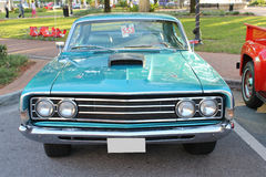 Old Ford car. The old Ford Fairlane 500 GT car at the show Royalty Free Stock Images