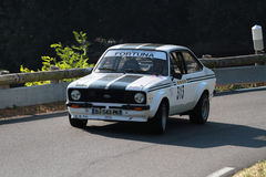 Old Ford Escort Rally Car Stock Photo