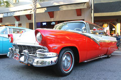 The old Ford Fairlane Car at the car show Stock Photo