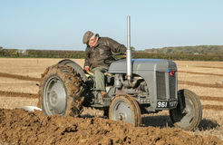 Old ford fergusen tractor at ploughing match Stock Photos