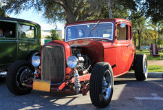 Old Ford hot-rod Car. The old Ford car on the street Royalty Free Stock Images