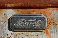 Old Ford Logo from a pickup Stock Photos
