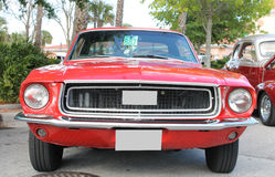 Old Ford Mustang Car. The old Ford Mustang car at the show Royalty Free Stock Photos