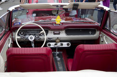 Old Ford Mustang Interiors Royalty Free Stock Photography