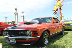 Old Ford Mustang Mach-1 Car at the car show Royalty Free Stock Images