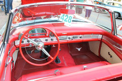 The old Ford Thunderbird Car at the car show Royalty Free Stock Image