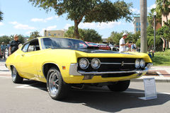 Old Ford Torino Cobra Car at the car show. The Old Ford Torino Cobra-1966 car at the premier car show in Lakeland, Florida-2013 Stock Image